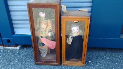 出張買取の池屋で買い取った市松人形と和人形