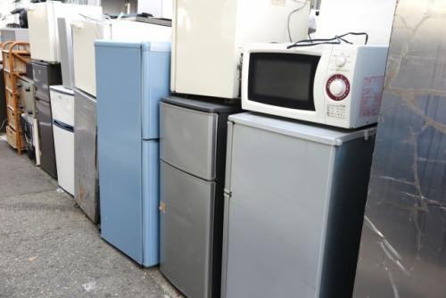 中古品の冷蔵庫や電子レンジなど家電製品