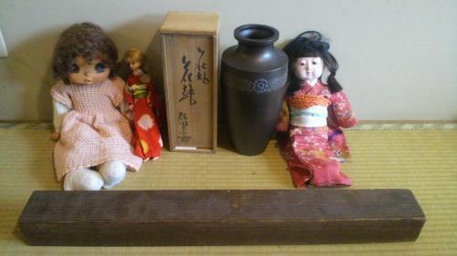 出張買取の池屋で買い取ったお人形たち
