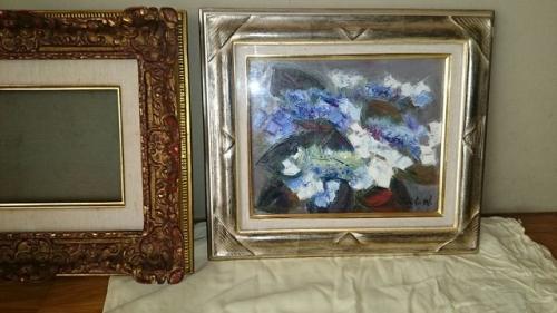 出張買取の池屋で買い取った油絵と額縁